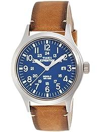 Timex Herren-Armbanduhr Analog Quarz Leder TW4B01800