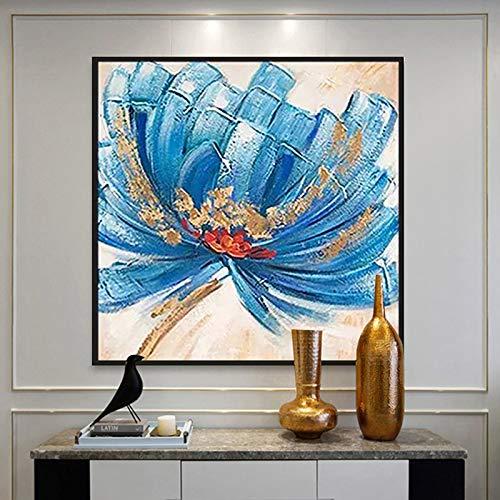tzxdbh 100% Peint À La Main Abstrait Grandes Fleurs Art Peinture sur Toile Mur Art Mur Ornement Photos Peinture pour Live Room Home Decor