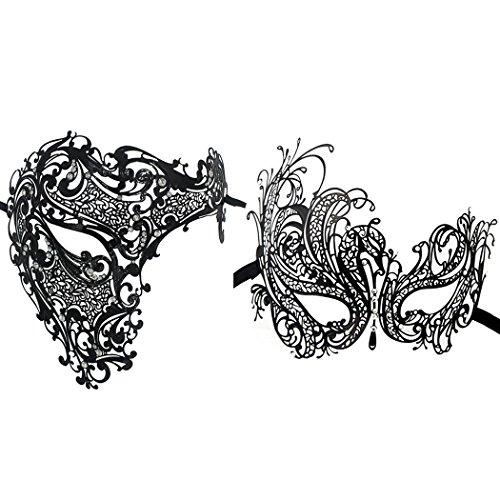 Preisvergleich Produktbild 2 Stück Set Paare Venezianer Half Face Masken Kostüme Party Zubehör