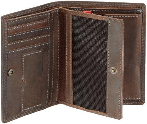 Strellson Baker Street Billfold V8 4010000224 Herren Geldbörsen 10x13x1 cm (B x H x T), Schwarz (black 900) Braun (dark brown 702)