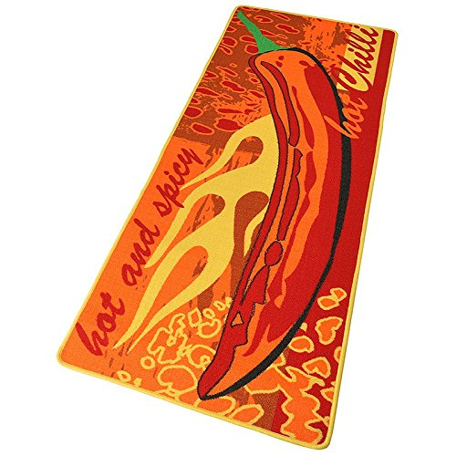 Hanse Home Küchenläufer Hot Chilli Rot Orange Gelb, 67x180 cm Chilli Collection