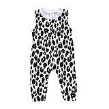 Trada Kleinkind Kinder Baby Mädchen Leopard Strampler Hosen Sommer Kleidung Outfits Kindbekleidung Babykleidung Overall Playsuit Bodysuit(Paket enthalten: 1 STÜCK Overall (80, Weiß)