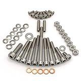 Simson Schwalbe Motor Schraubensatz für KR51/1 mit Handschaltung Motor M53/1 KH Zylinderschrauben mit Innensechskant aus Edelstahl V2A, 46 teilig