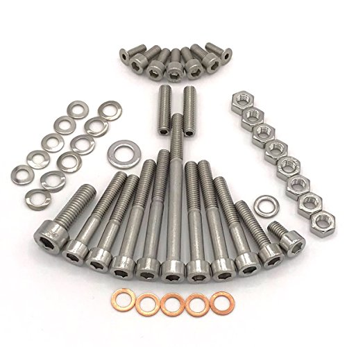 Simson Schwalbe Motor Schraubensatz für KR51/1 mit Handschaltung Motor M53/1 KH Zylinderschrauben mit Innensechskant aus Edelstahl V2A, 46 teilig -