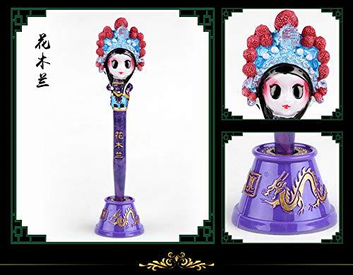 Peking-stift (FENGHUANG Peking Spezielle Peking Oper Maske Stift Folk Handwerk, chinesische besondere Gedenkgeschenke,Mulan)
