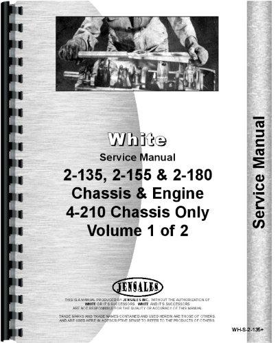 White 2-180 Traktor Teile Handbuch -