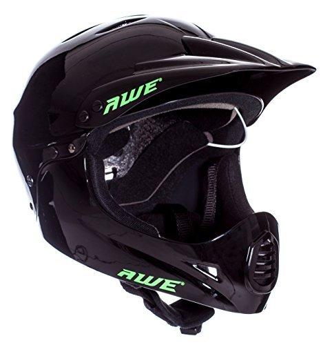 AWE® BMX Full Face Helm schwarz, Größe L 58–62 cm (Full-face Bmx Helme)