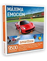 SMARTBOX - Caja Regalo - MÁXIMA EMOCIÓN - 9500 experiencias de conducción o aventura como Ferrari, salto tándem de 3000 m..