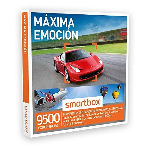 SMARTBOX – Caja Regalo – MÁXIMA EMOCIÓN – 9500 experiencias de conducción o aventura como Ferrari, salto tándem de 3000 m..
