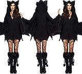 WSJ Weibliche Batman-Kostüm, Halloween Dunkles Kleid, Mädchen Cosplay Batman, Geeignet Für Maskerade und Bühnen Show Dress up,XXXL