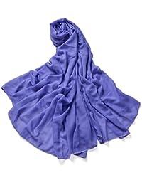 f82b78666d52b Miobo XXL Damen Stola Schal Unifarbe 220 x 140 CM in verschiedenen Farbe  aus Viskose