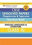 Oswaal Unsolved Paper Question Bank Class 10 English Language & Literature (Mar.2018 Exam)
