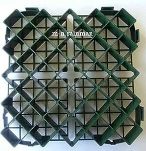 Grille à Gazon Plastique Professionnelle, Limitation, Fixation au Sol 32 Unité= 4,8 m²