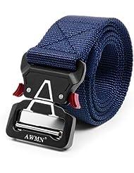 APERIL Cinturón Táctico Militar Ajustable Cintura Hombres Lona Nylon Hebilla de Metal para Entrenamiento de Caza