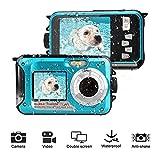 Camera Acuatica Sumergible 24MP Cameras Acuaticas Full HD 1080P Self Shot Dual Screen Cámara Acuatica Sumergible