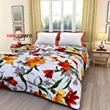 Handcraftd Reversible Poly Cotton A/C Blanket Double Bed Dohar For Summer,85x100 Inches(Multicolour)