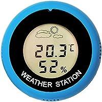 Asidue - Termómetro digital redondo (higrómetro, medidor de temperatura, estación meteorológica)