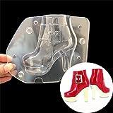 Gertong PVC muffa 3D torta al cioccolato decorazione a forma di scarpa Molde pasta di zucchero decora in policarbonato per la cottura Craft wedding cake DIY baking Tool, borse da donna High heels S