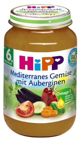 Hipp Mediterranes Gemüse mit Auberginen, 6er Pack (6 x 190g)