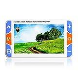DAMAI Digital Video Magnifier 5.0 Zoll Handportable Mobile Elektronische Lesehilfe Leselupen Für Sehbehinderte, Senioren, Makuladegeneration, Menschen Mit Hoher Kurzsichtigkeit 3X-48X