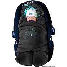 ByBoom® - Manta arrullo de invierno para bebé, es ideal para sillas de coche (p.ej. de las marcas Maxi-Cosi y Römer), para cochecitos de bebé, sillas de paseo o cunas; LA MANTA ARRULLO ORIGINAL CON EL OSO