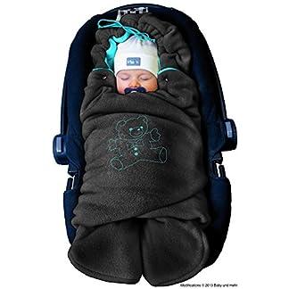 ByBoom® – Manta arrullo de invierno para bebé, es ideal para sillas de coche (p.ej. de las marcas Maxi-Cosi y Römer), para cochecitos de bebé, sillas de paseo o cunas; LA MANTA ARRULLO ORIGINAL CON EL OSO