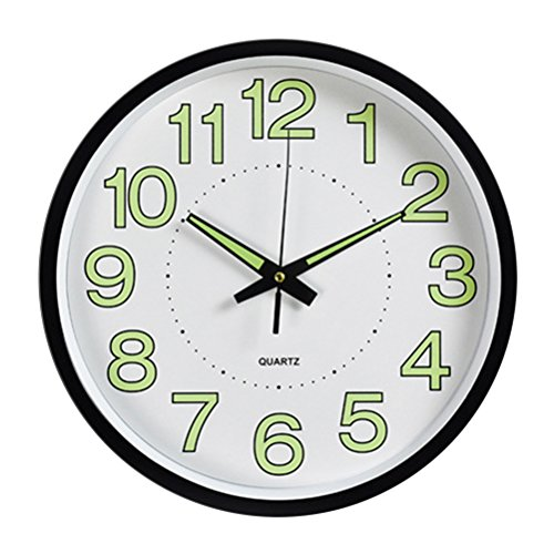 Oulii orologio da parete fluorescente di 12 pollici in nero per regalo di festa del papà