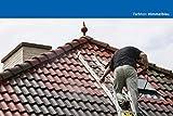 12KG Dachfarbe in Himmelblau für Ziegel, Dachpfanne, Eternit TÜV-GEPRÜFT Dachsanierung Dachbeschichtung Dachziegel Farbe Blau
