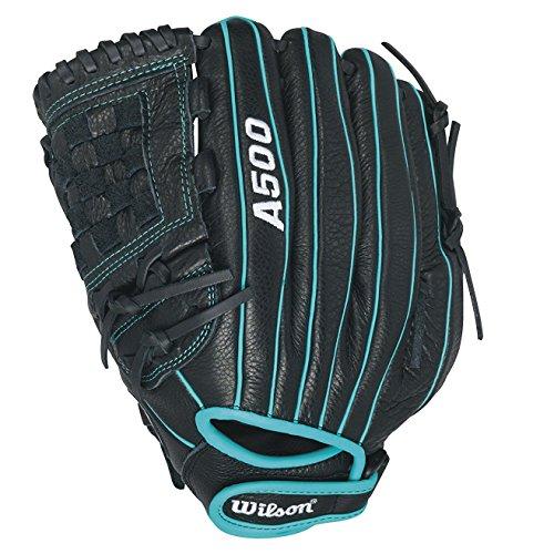 WILSON A500 Siren Fp Handschuhe, Black/Teal, 12