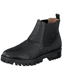 Shoot Zapatos SH-216040M Mujer Piel Chelsea Botas Reptil black
