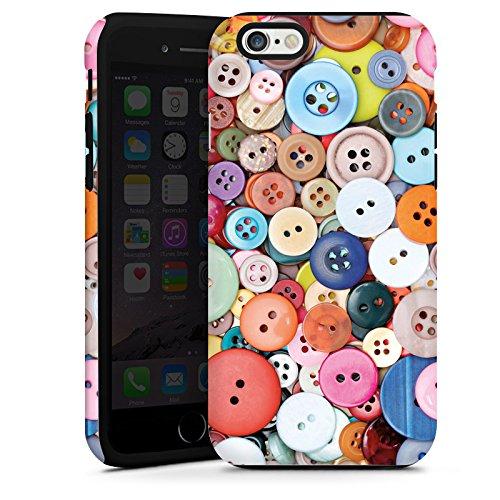 Apple iPhone 6 Housse Étui Silicone Coque Protection Boutons Coudre couleurs Cas Tough terne