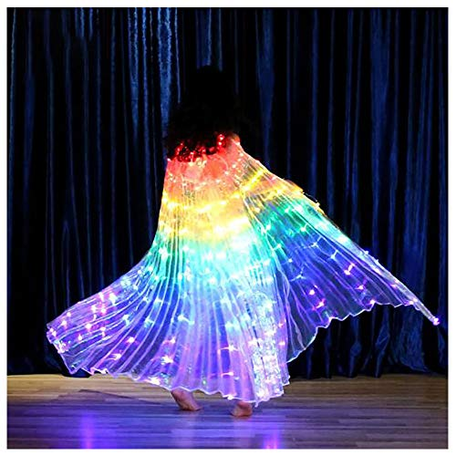 Light Stick Kostüm - Kinder LED Light Wings Dance, No