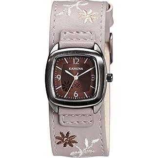 Kahuna KLS-0227L – Reloj analógico de cuarzo para mujer con correa de piel, color gris