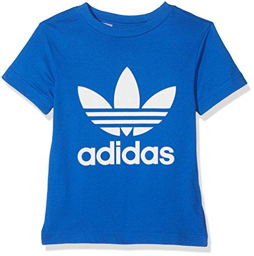 Adidas j trf tee, maglietta bambino, blu (blu/bianco), 140