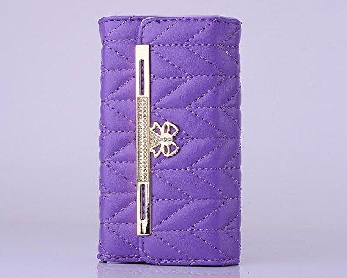 """inShang Hülle für Apple iPhone 6 Plus iPhone 6S Plus 5.5 inch iPhone 6+ iPhone 6S+ iPhone6 5.5"""", Cover Mit Modisch Klickschnalle + Errichten-in der Tasche + GRID PATTERN HANDBAG , Edles PU Leder Tasch zigzag handbag purple"""