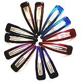 12 Pcs / Paquet de couleur Big 6cm (2,5 « » pouces) Barrettes Girl Hairpin Accessoires pour cheveux