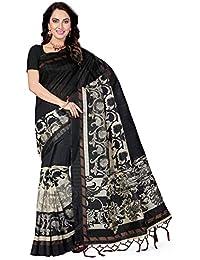 Ishin Bhagalpuri Mysore Art Silk Black Printed Party Wear Wedding Wear Casual Wear Festive Wear Bollywood New...