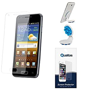 Qualitas Pack of 3 Matte Screen Protector for Moto G + Octopus Mobile Phone Holder Stand