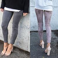 Preisvergleich für Xuanytp Yogahosen Damen Slim Leggings Warm Damen Freizeitjacke Stretch Pencil Stretch Pants