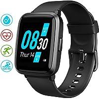 UMIDIGI UFit Montre Connectée pour Hommes Femmes trackers de Fitness Cardiaque oxymètre de pouls Moniteur d'oxygène Moniteur de Pression artérielle (SpO2) 5 ATM Smart Watch pour Android iOS