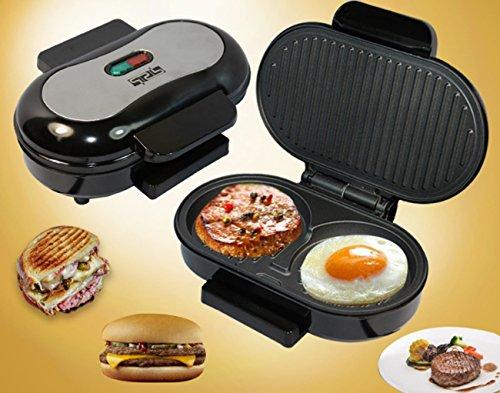 ZXMXY Mini-Steak-Maschine Antihaft-Sandwich-Maker Rauchfreie Barbecue-Ei-Friteuse Multi-Funktions-Brot Frühstück Elektro-Grill Indoor Outdoor