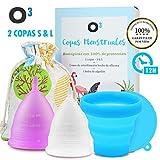 O³ Copa Menstrual Ecologica 2 Unidades - S y L - Con Esterilizador...