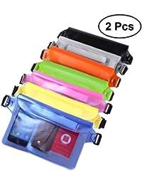 2PCS Waterproof Waist Bags For Outdoor Phone Belongings Portable Waist Pouches Multifunctional Waist Bags (Random...