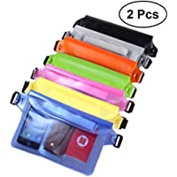 VORCOOL 2 PCS Bolsa de Cintura Impermeable de PVC Bolsas de Cintura Portátil Bolsas de Cintura de Teléfono Inteligente para Kayaking Playa Natación Canotaje (Color Al Azar)