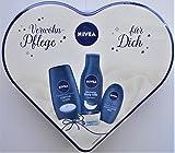 NIVEA - Verwöhn-Pflege für Dich - Geschenk-Set in Herzdose 4-teilig
