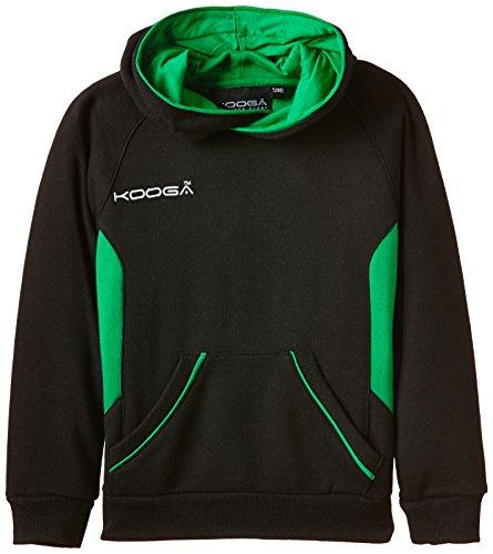 Kooga Boy's Team Elite Hoody schwarz Schwarz/Smaragdgrün L