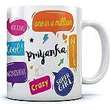 Ramposh Priyanka Printed Ceramic Coffee Mug. 350 Ml. Best Gift For Birthday