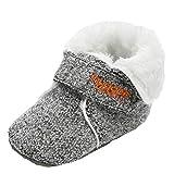 XXYsm Kleinkind Schuhe Baby Mädchen Jungen Winter Lauflernschuhe Krabbelschuhe Weiche Sohle Babyhausschuhe Grau 13/12-18 Monate