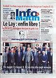 INFO MATIN [No 470] du 09/11/1995 - LES BONS COUPS DE LA BAISSE DES CHARGES SUR L'EMPLOI - RUGBY - LE NEO-ZELANDAIS JONAH - AIR FRANCE - LA GREVE CONTINUE - VERS L'EXTRADITION D'ABOU FARES - LA MODE - LE LAY - ENFIN LIBRE - DE JUPPE 1 A JUPPE 2 - LE JEU DES 14 ERREURS