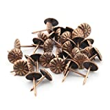 Owfeel 100pcs Rot Bronze Reißzwecke Polsternägel Antik Deco Tack Polster Nail Drum Nail 11mmx16mm